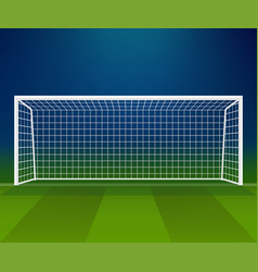 Soccer goal football goalpost with net on a vector