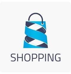 Template logo shopping vector image
