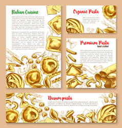 templates set for pasta of italian cuisine vector image
