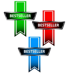 Three bestseller icons vector image