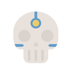 tribal ethnic skull bone native american indian vector image