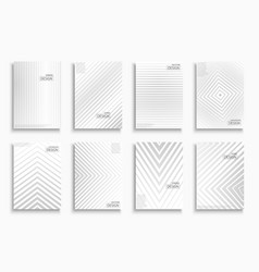 white and gray striped light contemporary vector image