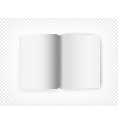 white open book isolated on transparent background vector image