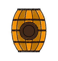 Wooden barrel icon vector