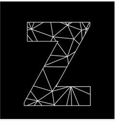 z geometric triangle block chain font vector image