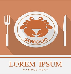 Crab Fork and Knife icon 3 vector image vector image
