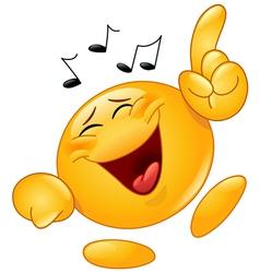 dancing emoticon vector image