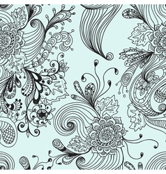 floral ornament seamless vector image