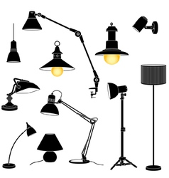 lamp set vector image vector image