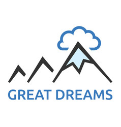 mountains and cloud vector image