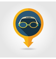 Swimming Goggles pin map icon Summer Vacation vector image