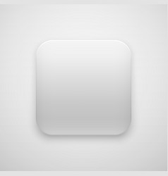 white blank app icon button template vector image vector image