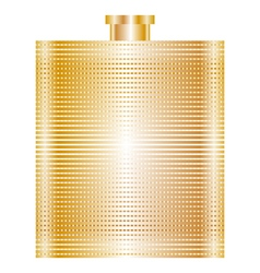 gold flask vector image vector image