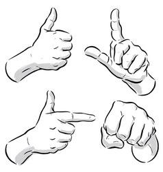 hand symbols vector image vector image