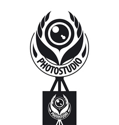 logo for the studio in the form of the coat of vector image