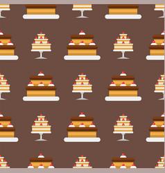 party cake celebration happy birthday surprise vector image vector image