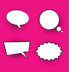 pop art colored speech bubbles vector image