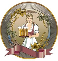 beer waitress radial vector image vector image