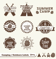 Camping labels vector