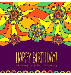 Colorful greeting card Happy Birthday vector image vector image