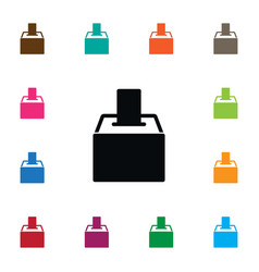 Isolated voting box icon ballot element vector