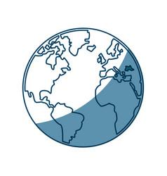 World map earth atlas cartography graphic vector