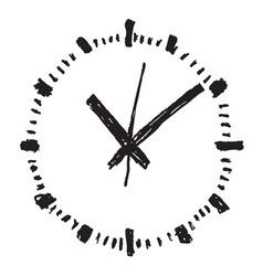 Clock handwritten2 resize vector image
