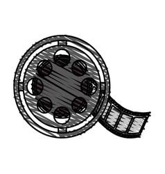 color crayon stripe image cartoon film roll reel vector image vector image