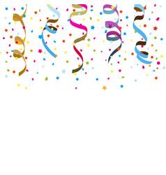 confetti ribbons vector image