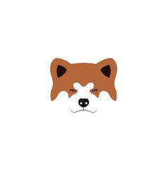 japanese akita inu dog vector image vector image