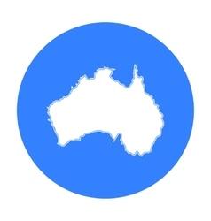 Territory of australia icon in black style vector