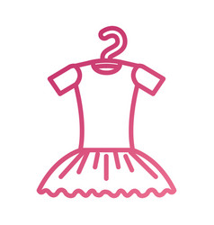 Tutu ballet on the hanger costume classic vector