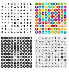 100 oppression icons set variant vector image
