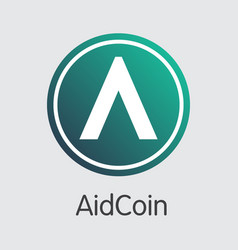 Aidcoin - crypto currency pictogram vector