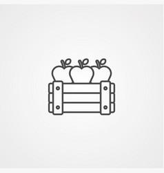 apple icon sign symbol vector image