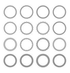 arabic circular frame collection vector image