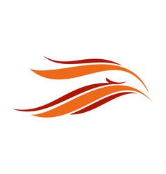 asbtract eagle flames head symbol design vector image