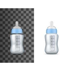 bafeeding milk bottles realistic mockups vector image