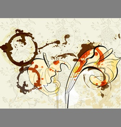 Beautiful calla lilies flowers on grunge backgroun vector