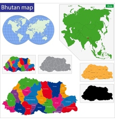 Bhutan map vector