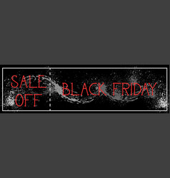 black friday sale off horizontal poster background vector image