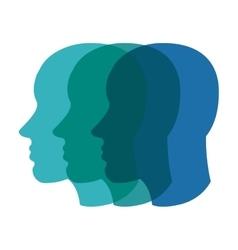 Blue faces icon Head design graphic vector