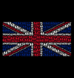 british flag pattern of family child icons vector image