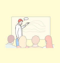 business education presentation meeting vector image