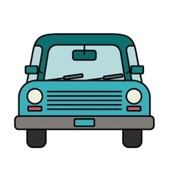 car drawing front isolated icon design vector image