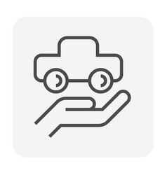 car security icon vector image
