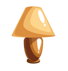 cartoon table lamp vector image