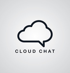 chat cloud theme vector image