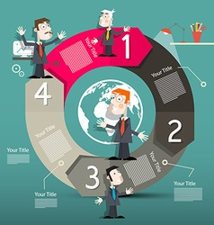 Circle Arrows Infographics Template - Layout with vector