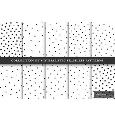 collection minimalistic seamless vector image